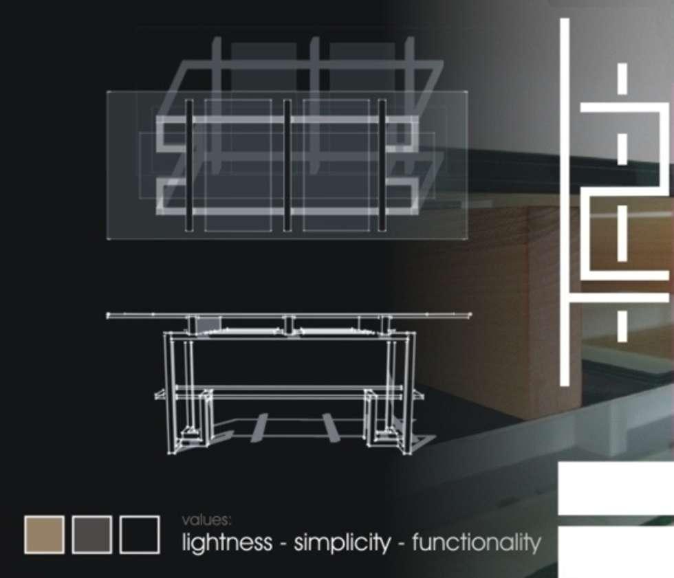 TAU: Case in stile in stile Minimalista di ecoArchitettare