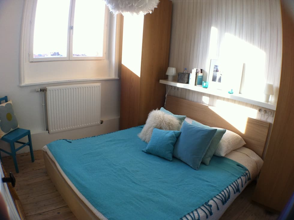 Chambre: Chambre de style de style Scandinave par Éloïse Déco