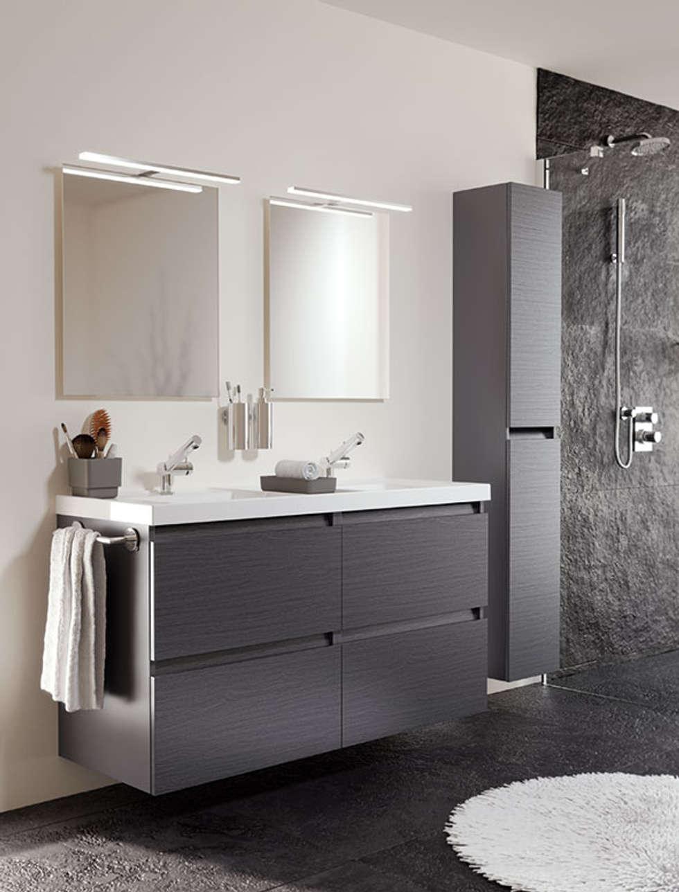 muebles para baos pequeos mueble pizarra con lavabo de resina con dos senos y cuatro cajones cm x cm de
