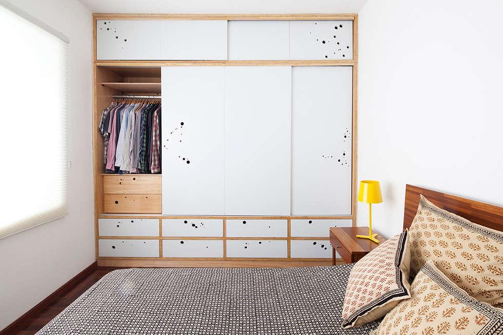 Projekty,  Sypialnia zaprojektowane przez Zoom Urbanismo Arquitetura e Design