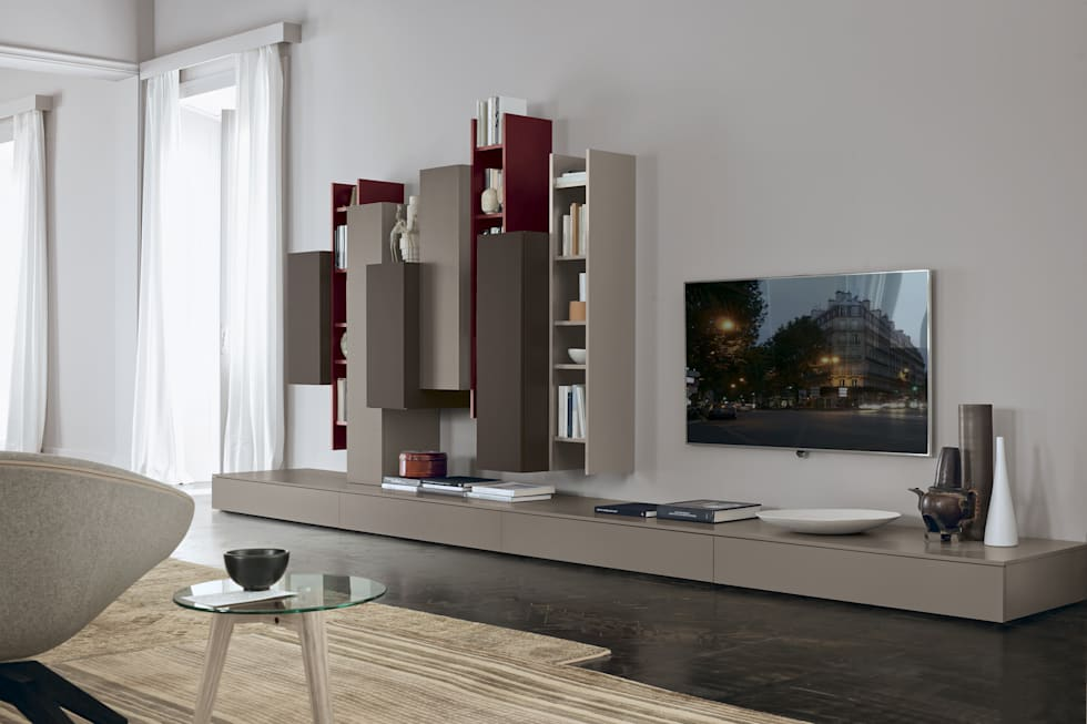 foto di soggiorno in stile in stile moderno : febal giorno 2014 ... - Soggiorno Febal 2