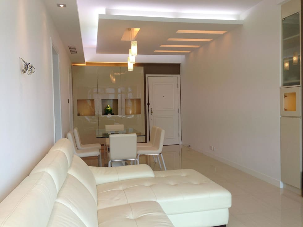 Dining area: modern Living room by Oui3 International Limited