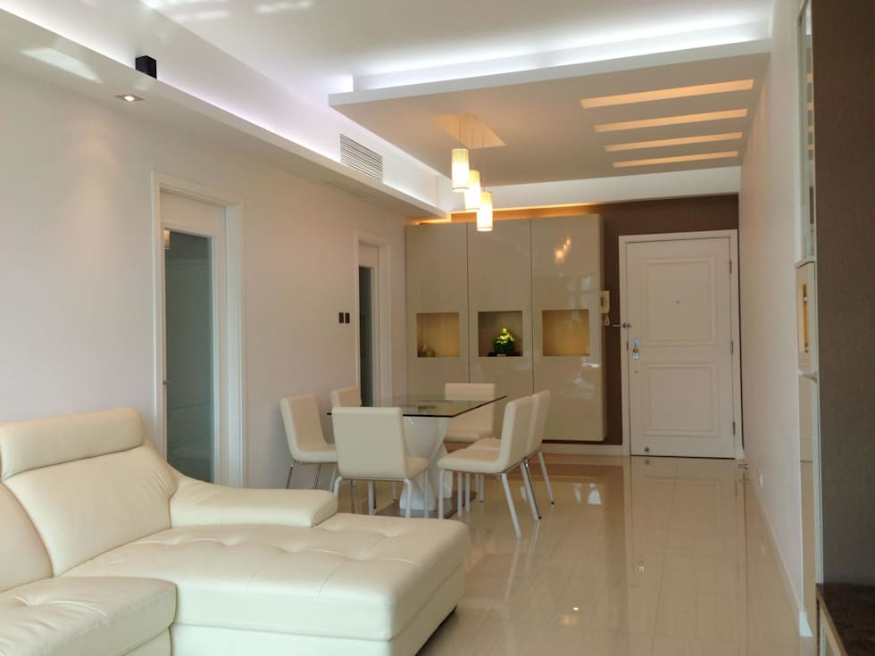 Dining room: modern Living room by Oui3 International Limited