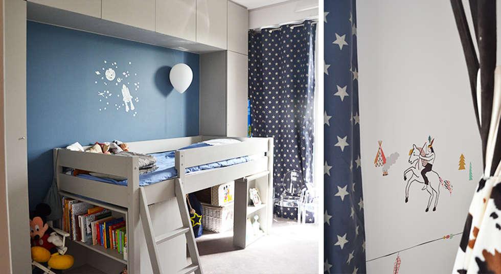 Chambre d'enfant - Duplex Boulogne: Chambre d'enfant de style de style Moderne par A comme Archi
