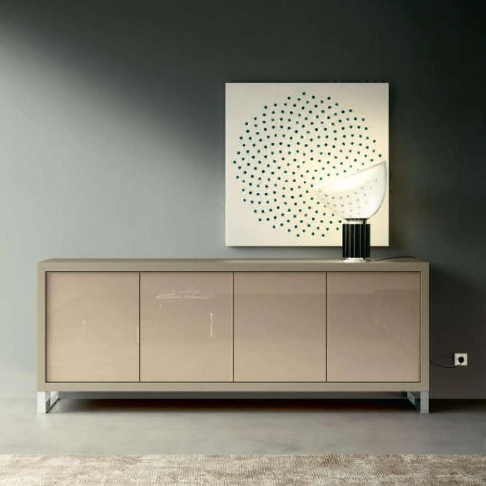 Modern dining room photos: perla sideboard with glass shelve, hinge...