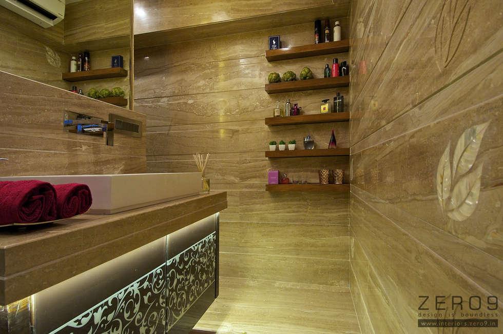 walk in closet: modern Bathroom by ZERO9