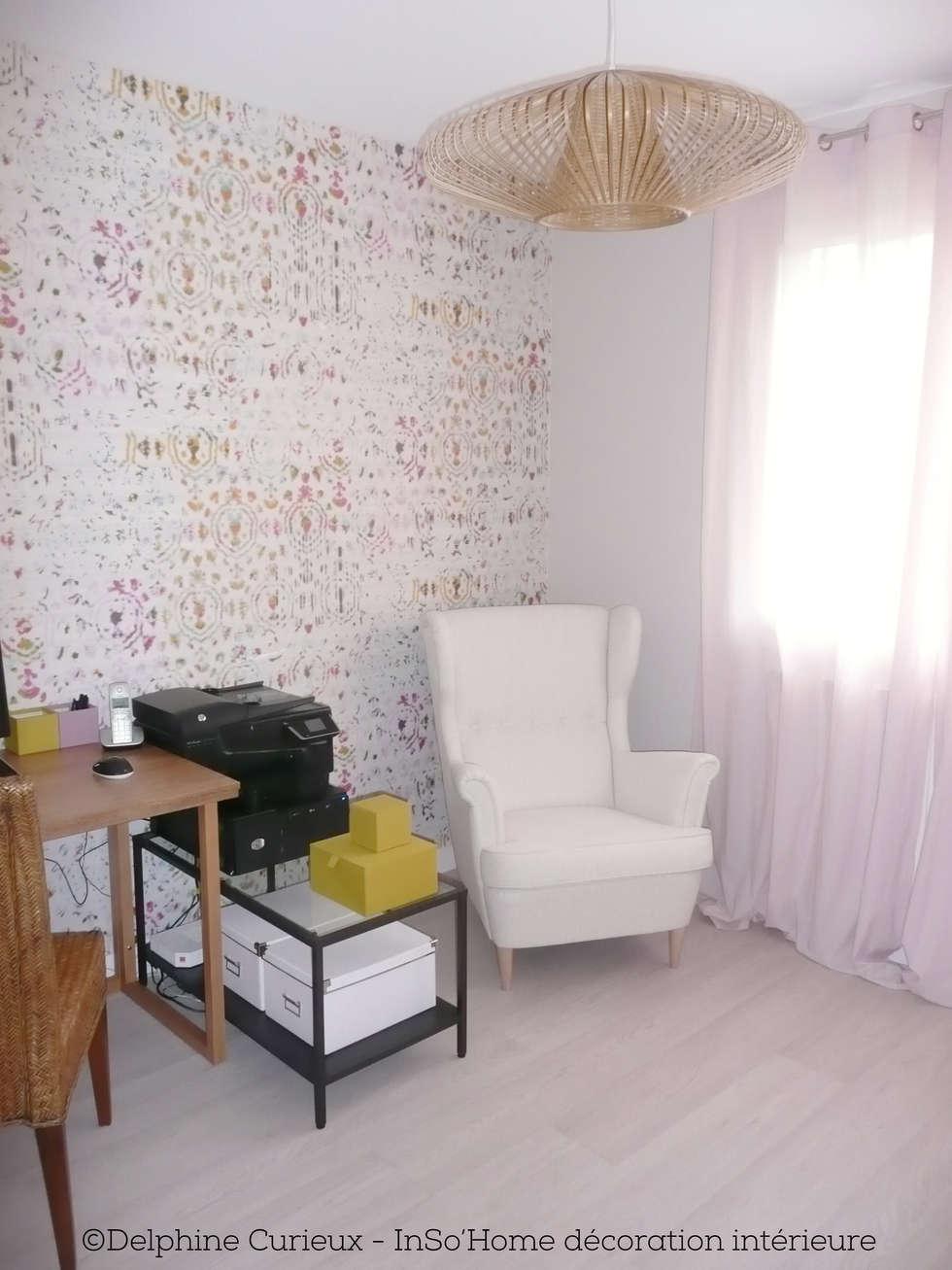 Bureau avec fauteuil: Bureau de style de style Moderne par INSO'HOME Décoration Intérieure