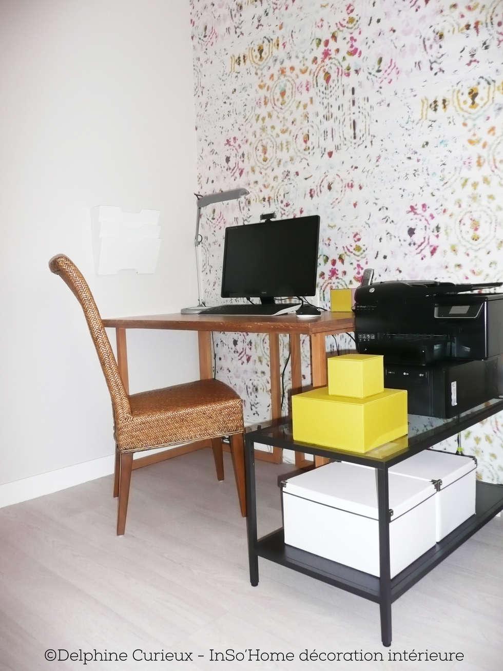 Bureau: Bureau de style de style Moderne par INSO'HOME Décoration Intérieure