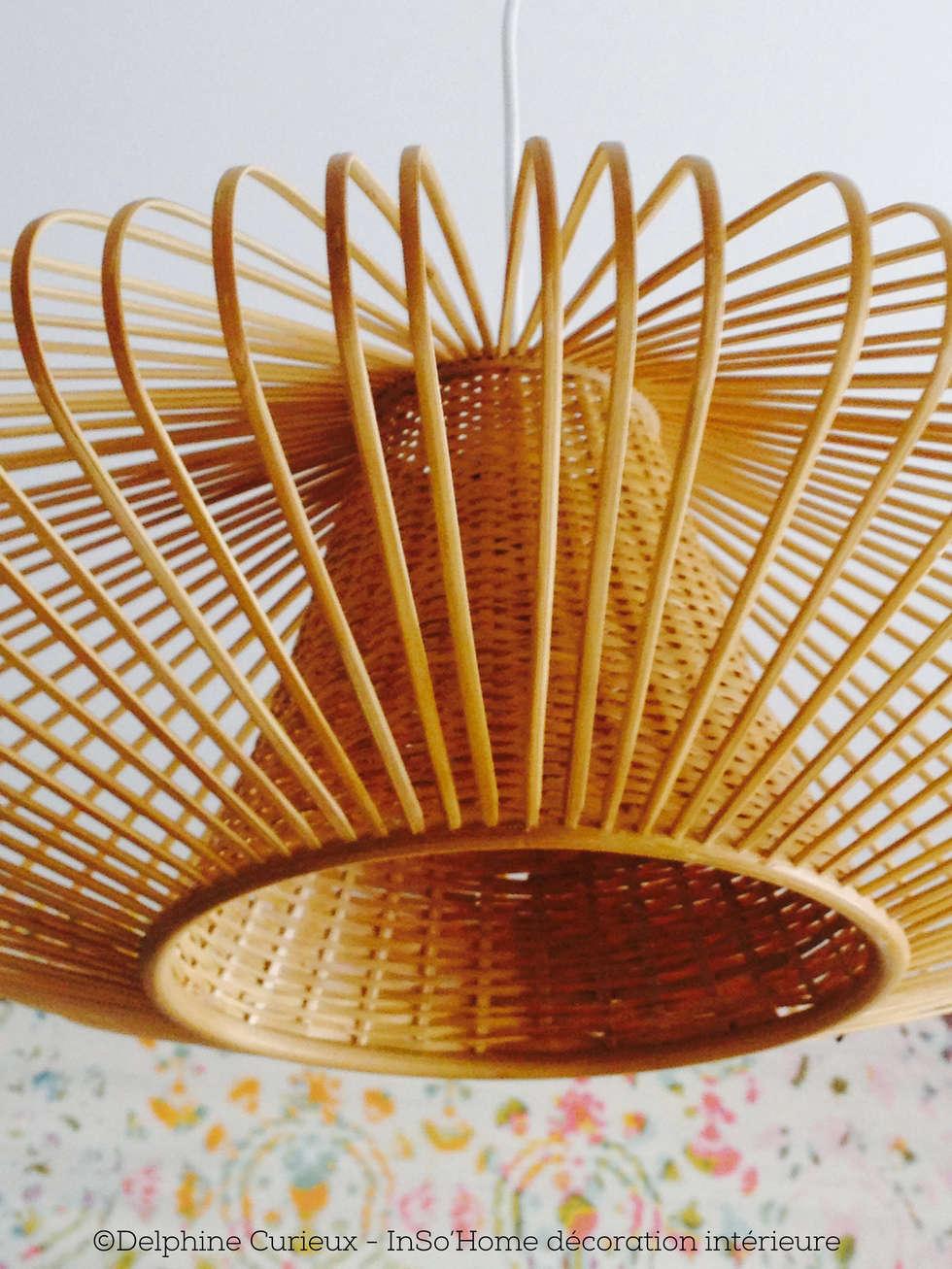 Détail luminaire Birman: Bureau de style de style Moderne par INSO'HOME Décoration Intérieure