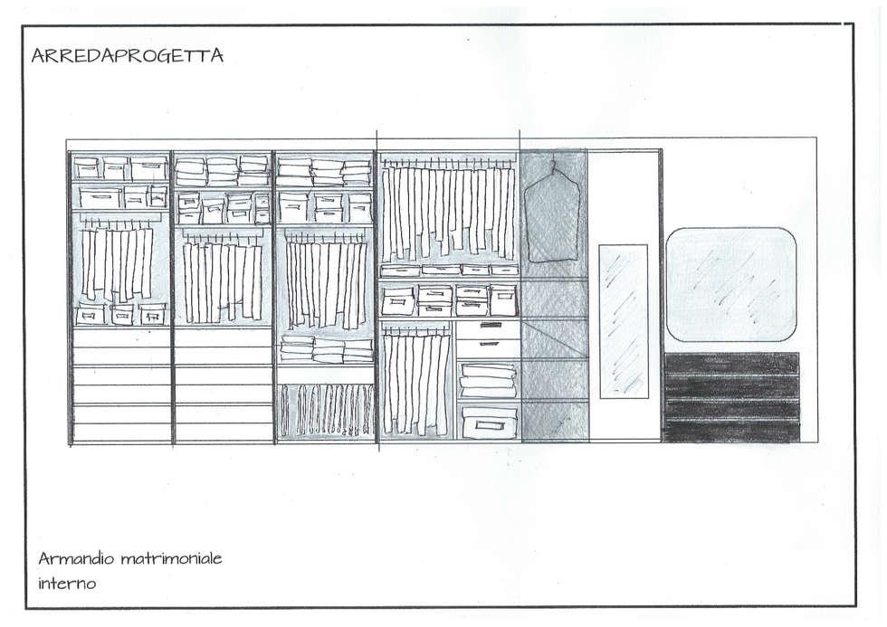 Progetto Armadio Matrimoniale: Case in stile in stile Moderno di Arreda Progetta di Alice Bambini