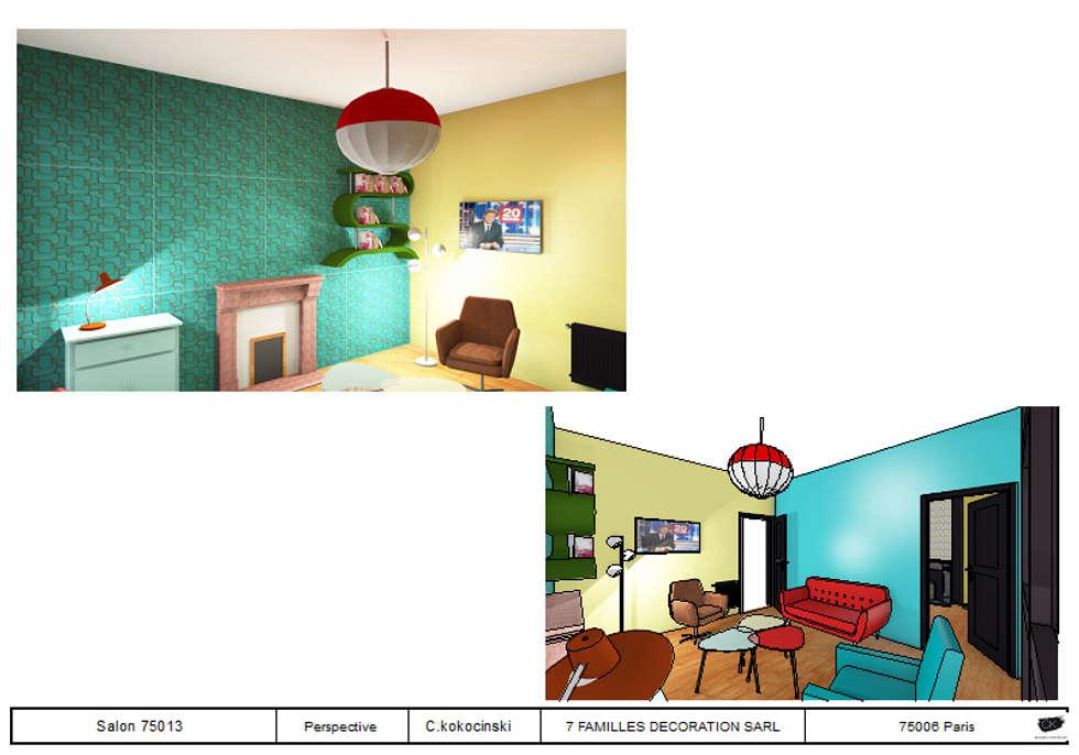 salon coloré esprit bohème chic : Salon de style de style eclectique par cecile kokocinski
