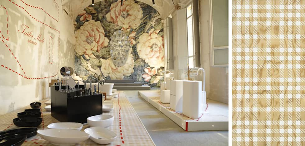 Tailor Made Bathroom: Allestimenti fieristici in stile  di Alhambretto Design Studio