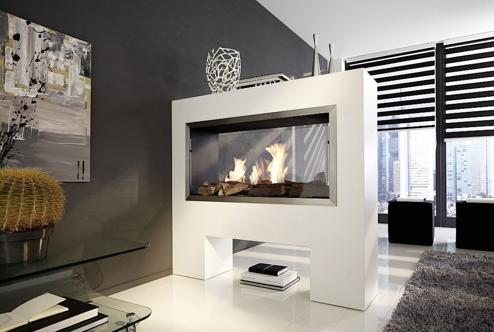 Aspect TKG BE   Bioethanolkamin Als Raumteiler: Moderne Wohnzimmer Von  Kamin Design GmbH