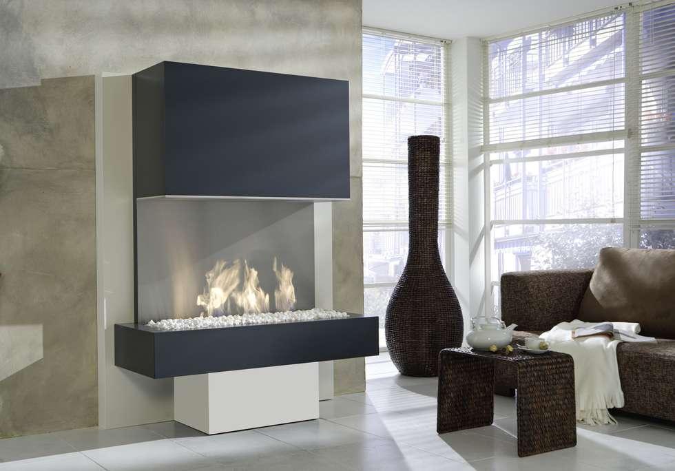 ausgefallene wohnzimmer bilder: designa als elektrokamin oder, Hause deko