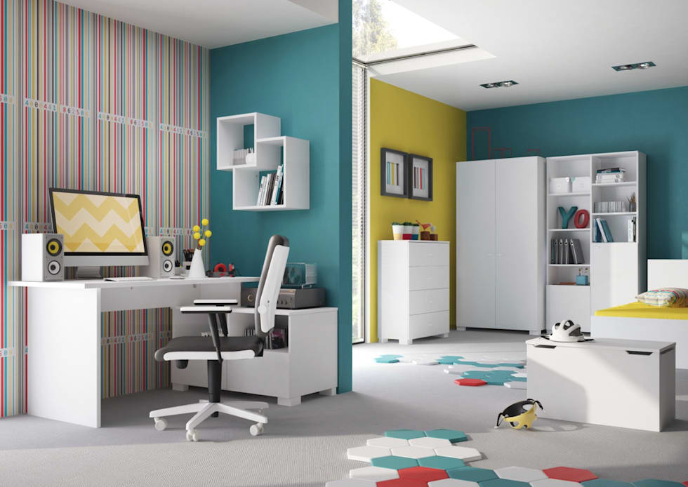 minimalistic Nursery/kid's room by Möbelgeschäft MEBLIK