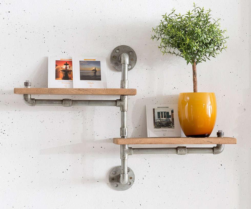 Wohnzimmer Regal Industrial: Wohnideen, Interior Design, Einrichtungsideen & Bilder