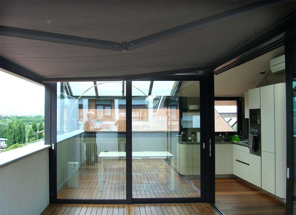 Stunning mansarde con terrazzo photos design trends 2017 for Arredamento veranda terrazzo