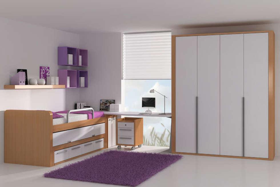 cama elevada con cama nido extrable y cajones inferiores de nias de estilo de