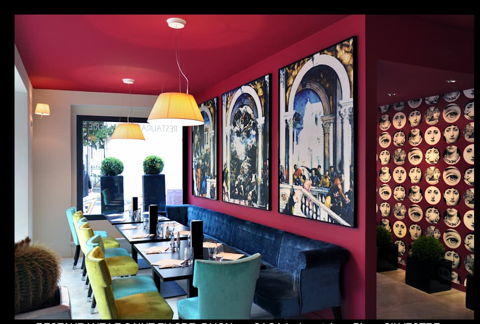 Restaurant  St Fiacre :  de style  par Saga Design