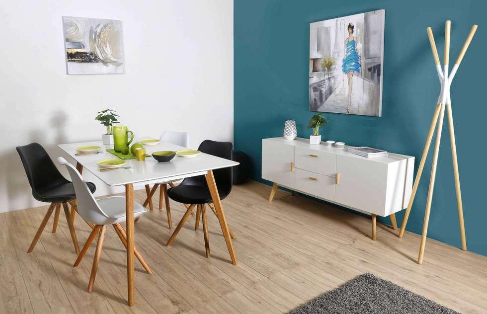 Collection de chaises scandinaves ikôn: salle à manger de style de ...