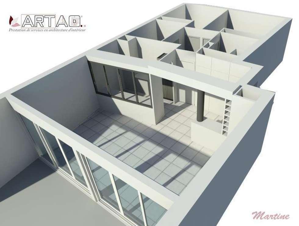 Vue 3D: Salle à manger de style de style Classique par Artao