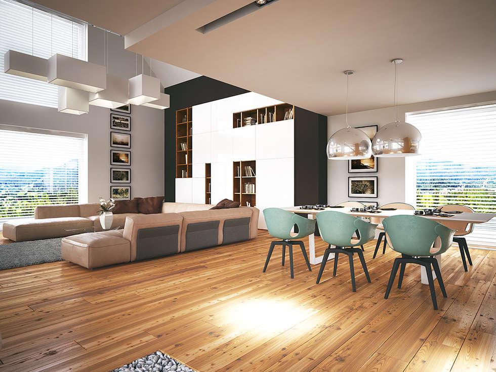 LK&1172: styl , w kategorii Salon zaprojektowany przez LK & Projekt Sp. z o.o.