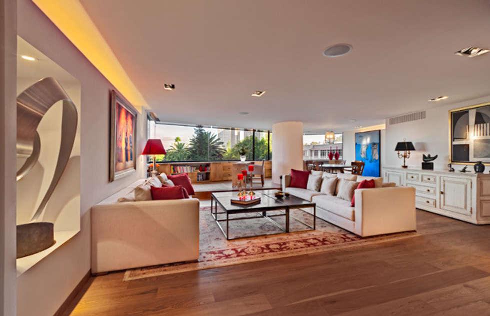 Departamento Polanco 1: Salas de estilo moderno por Lopez Duplan Arquitectos