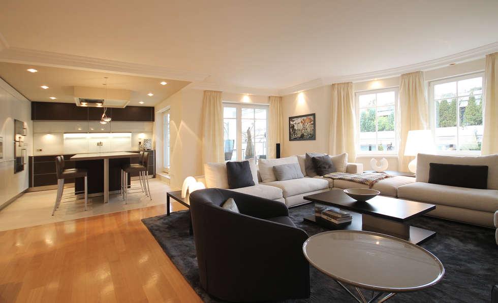offene wohnkche moderne wohnzimmer von eswerderaum - Offene Wohnkche Mit Wohnzimmer