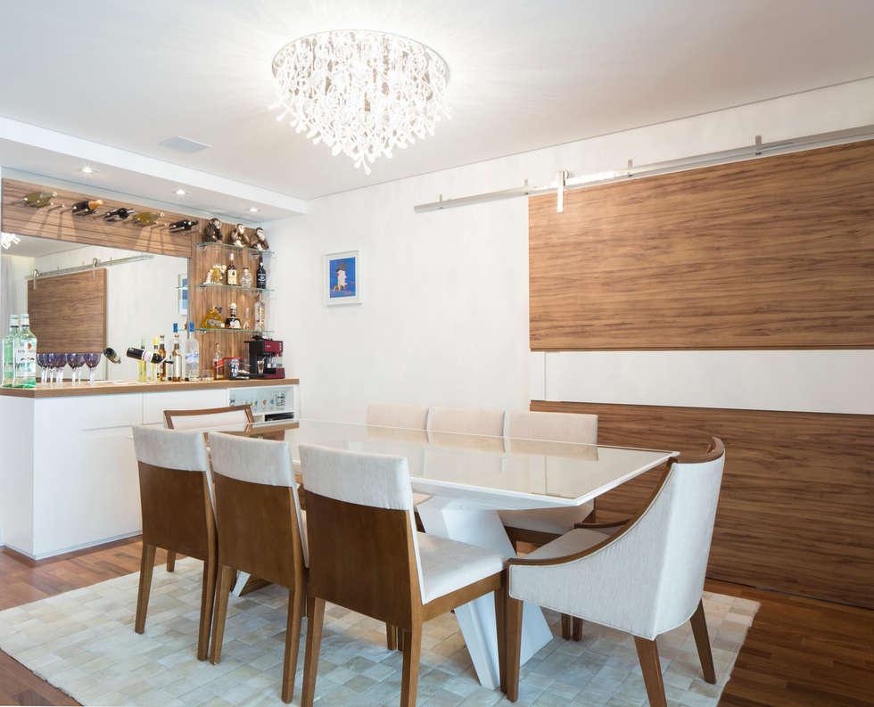 Sala de jantar: Salas de jantar ecléticas por ArkDek