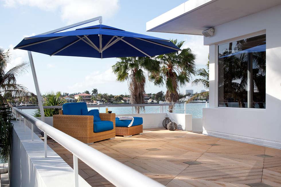 sombrillas de diseo balcones y terrazas de estilo de