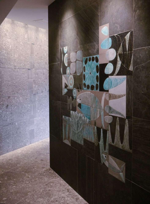 Fresque Spa: Spa de style de style Scandinave par ulrike weiss céramiques