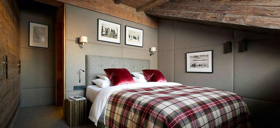 غرفة نوم تنفيذ Architectural Interiors + Superyacht Photographer