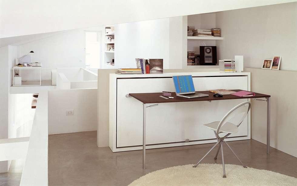 minimalistische wohnzimmer bilder: schrankbett & tisch poppi desk, Hause ideen