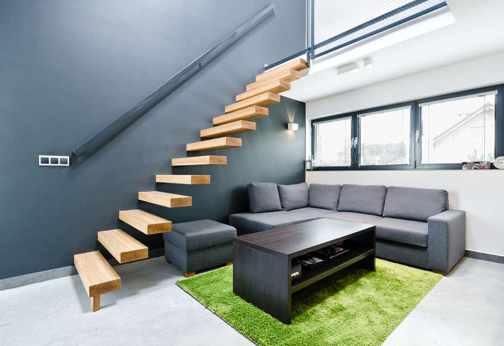 modern Corridor, hallway & stairs by ENDE marcin lewandowicz
