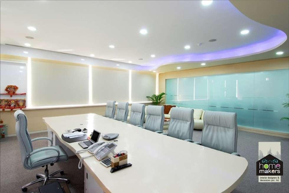 Conference Room: modern Media room by home makers interior designers & decorators pvt. ltd.