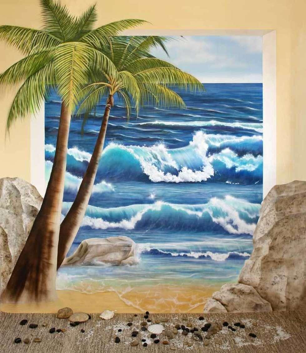 Studio Witti   Wandmalerei: Akdeniz Tarzı Tarz Spa