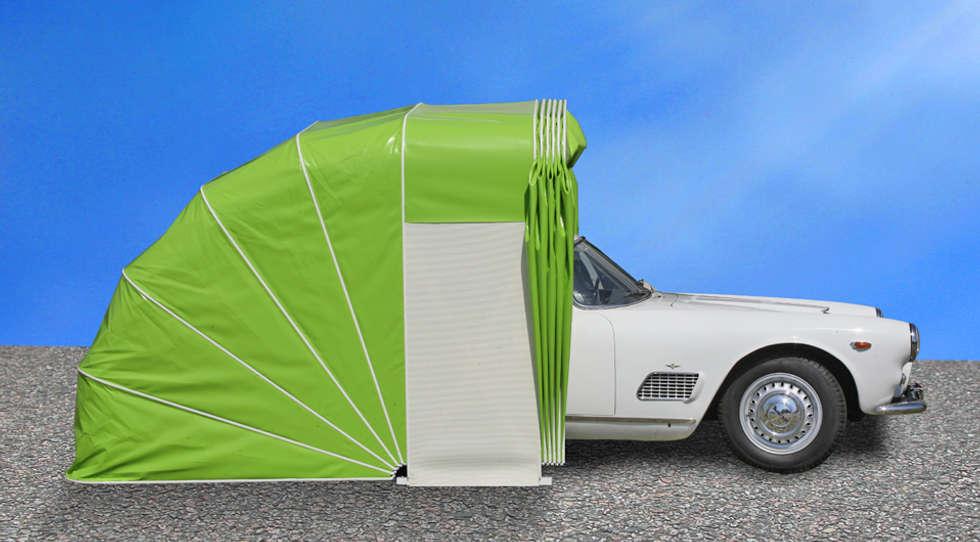 moderne garage schuppen bilder carhome faltgarage f r. Black Bedroom Furniture Sets. Home Design Ideas