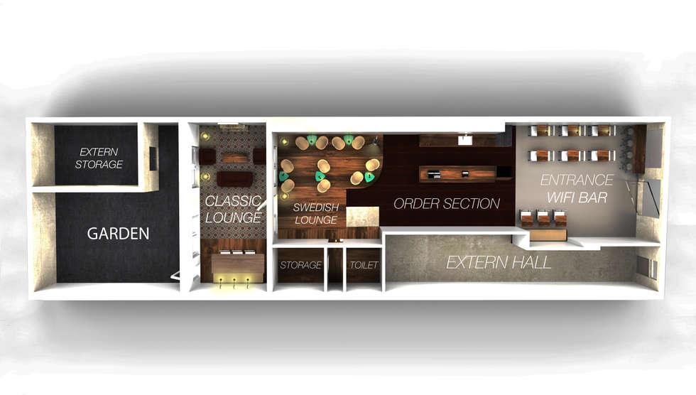 Coffeehouse Plan:  Bars & clubs door Alexander Claessen