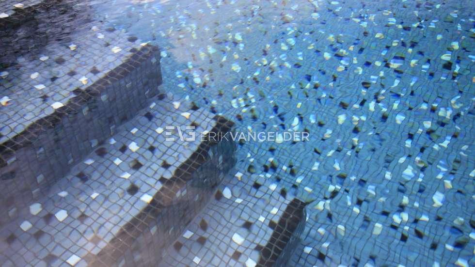 RVS mozaiek: modern Zwembad door ERIK VAN GELDER | Devoted to Garden Design