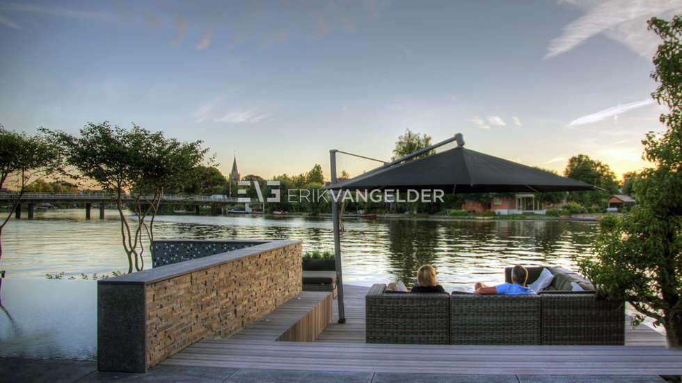 Foto s van een mediterrane tuin tijdloze wellnesstuin alblasserdam homify - Tuin met zwembad design ...