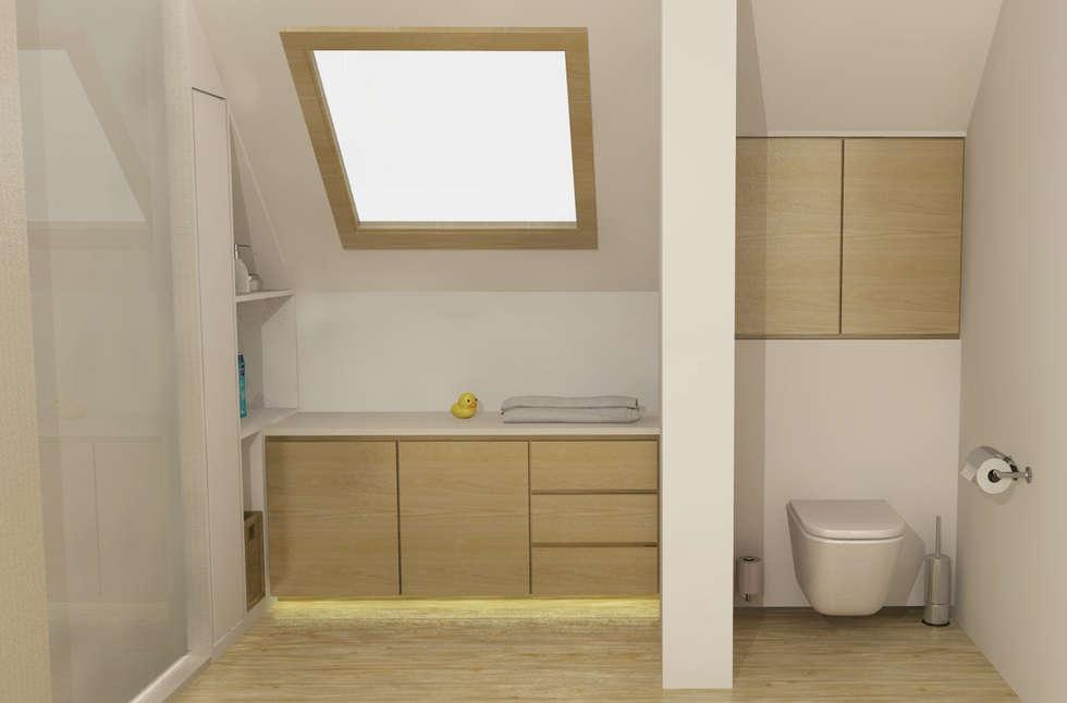 Badkamerkast 'Float': scandinavische Badkamer door AD MORE design