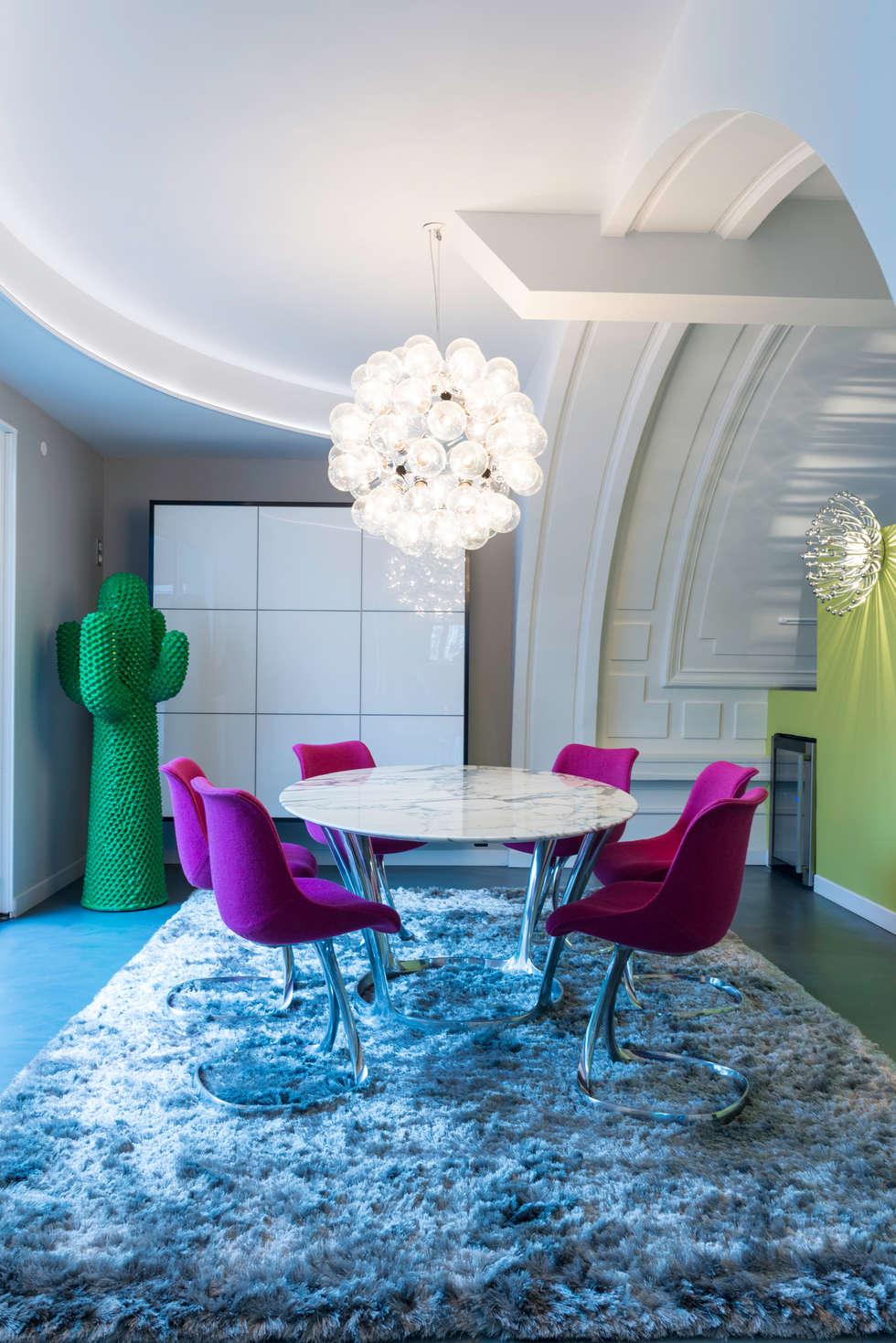 espace repas: Maisons de style de style eclectique par AGENCE JULIETTE VAILLANT ARCHITECTE