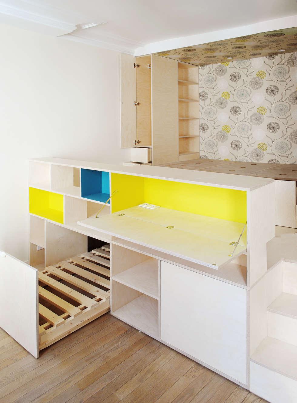 Studio Astucieux: Chambre de style de style Moderne par Atelier UOA