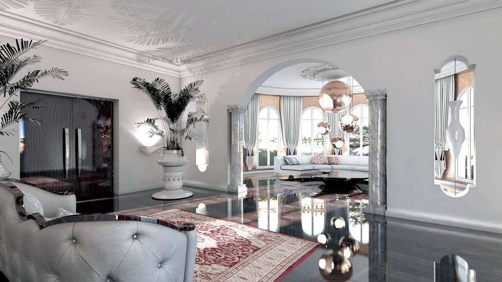 HALL D'ENTRÉE _ HOTEL: Hôtels de style  par AAA