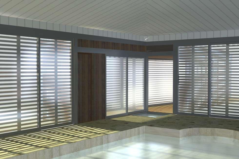 Piscine couverte : Piscines  de style  par ETNO Architecture