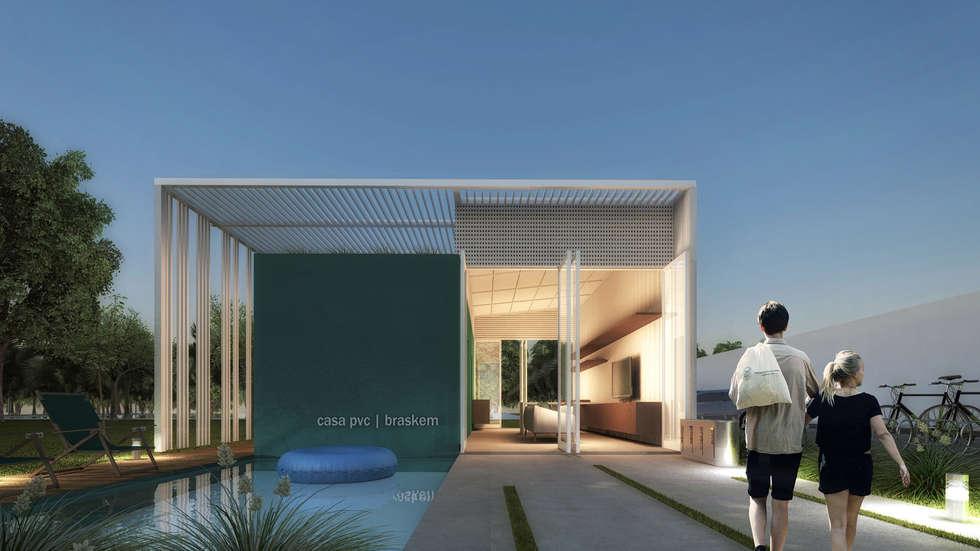 CASA PVC _ BRASKEM: Casas modernas por AF Arquitetura