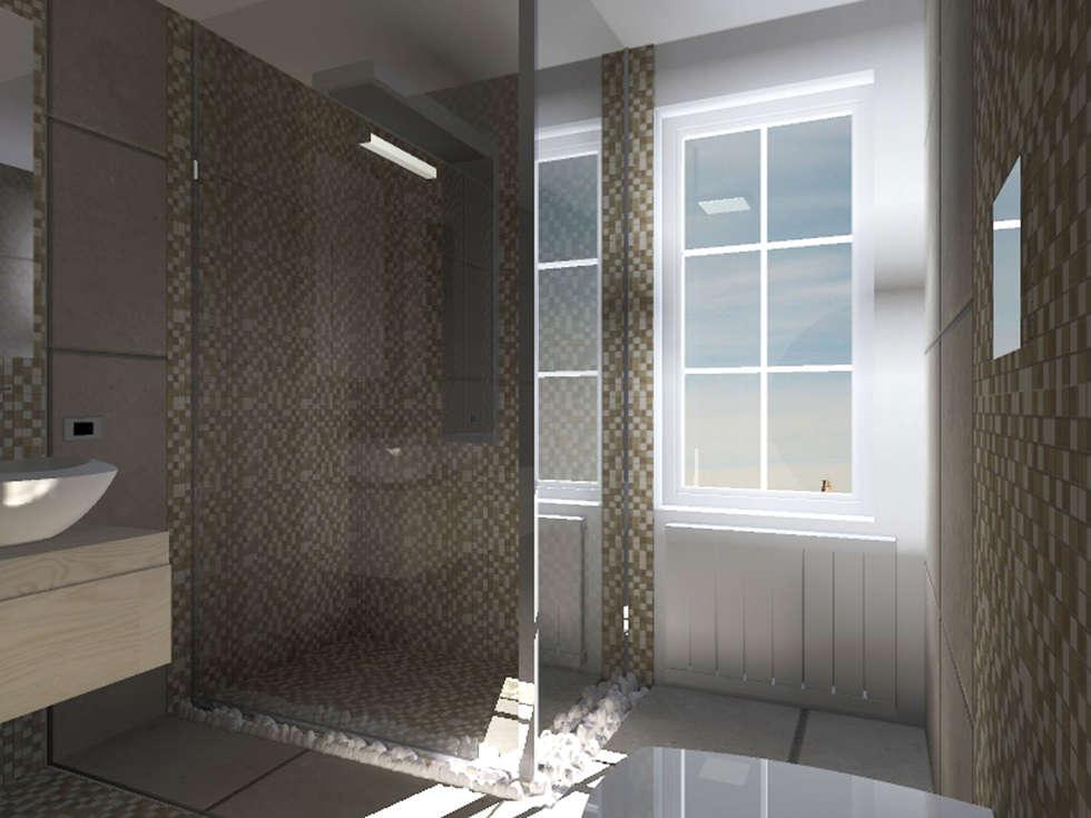 BAGNO G. - V.: Bagno in stile in stile Moderno di Liborio Fabio Cannarozzo