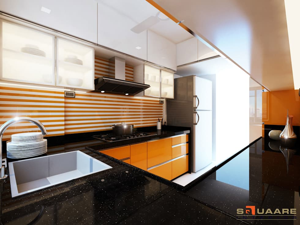 Kitchen:  Kitchen units by Squaare Interior