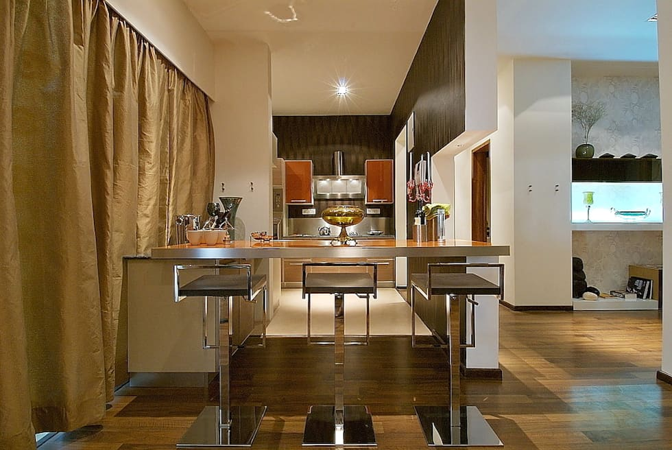 kitchen area: modern Houses by shahen mistry architects