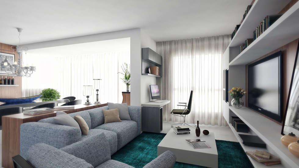 APTO VM: Salas de estar modernas por AF Arquitetura